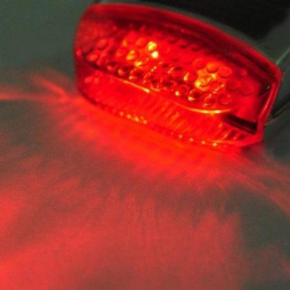 Solar Bike Warning Alert Red LED Tail Light 3 Modes