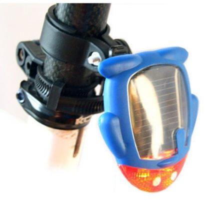 Penguin Shape Solar Bike Warning Red LED Tail Light