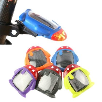 Penguin Shape Solar Bike Warning Red LED Tail Light