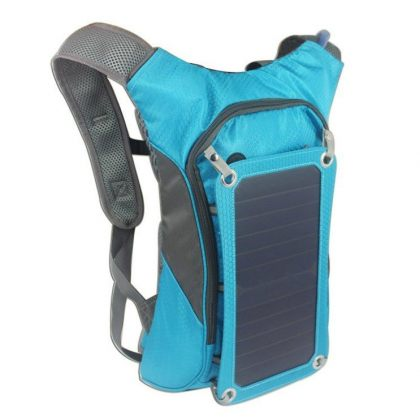 Solar Smart Backpack Sport with 6.5W Solar Panel and Water Bag