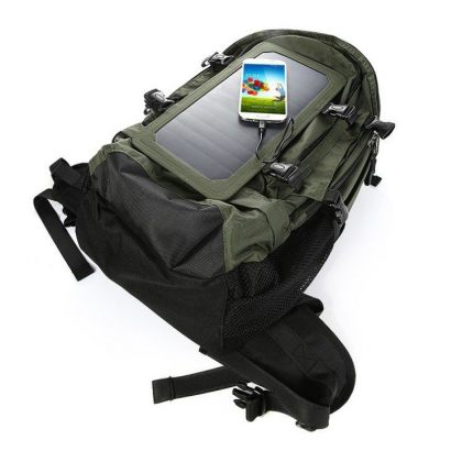 Solar Smart Backpack Charger with Removable 6.5W Solar Panel