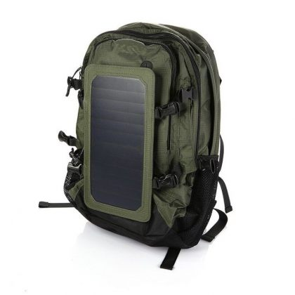 Solar Smart Backpack Charger with Removable 6.5W Solar Panel Home
