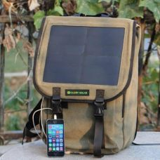 Solar Multifunctional Business Backpack Charger with build-in 10W Solar Panel