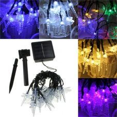 Solar Colorful Dragonfly Fairy Lights 20 LED Party Outdoor Decoration