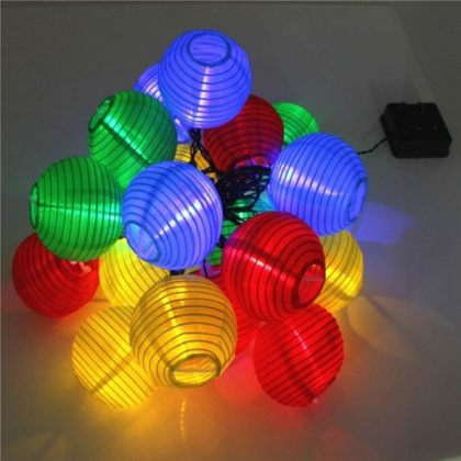 Colorful small Solar lantern 20 LED String Fairy Lights Party Outdoor Decoration Home
