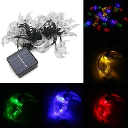 Solar Colorful Moon String Fairy Lights 30 LED Party Outdoor Decoration