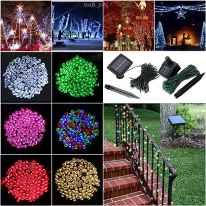 Solar Party Lights 200 LED Fairy String Light Outdoor Decoration