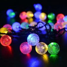 Solar Cristal Balls Fairy String 30 LED Party Decoration Lights