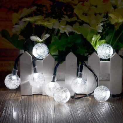 Solar Cristal Balls Fairy String 30 LED Party Decoration Lights