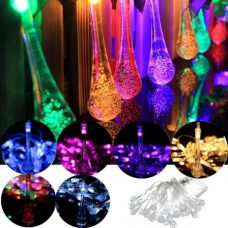 Solar Raindrop Fairy String 30 LED Party Decoration Lights