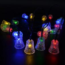 Solar Small Bells Fairy Light 20 LED String Outdoor Party Decoration