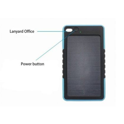 8000mAh Portable Solar Battery Charger Mobile Power Bank with Advanced Protection