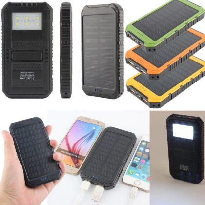 10000mAh Dual USB Universal Solar Battery Charger Mobile Power Bank