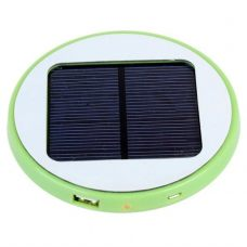 1800mAh Window Solar Battery Charger Mobile Power Bank Round Shape