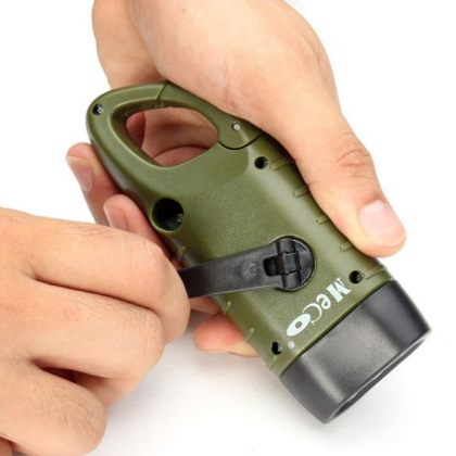Hand Crank Dynamo Solar Flashlight for Camping