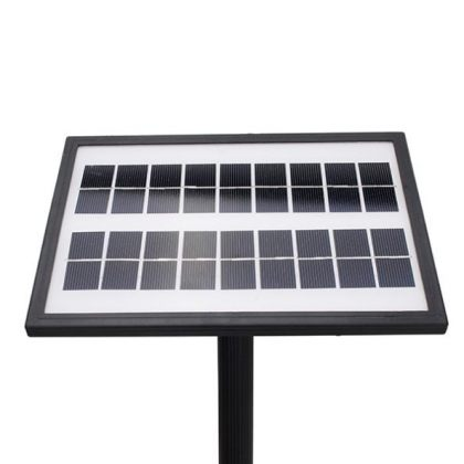 Solar Fountain with 9V Brushless Water Pump Built-In Battery and LED Light for Garden Landscape
