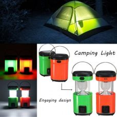 Portable outdoor Solar camping lamp with different recharging modes
