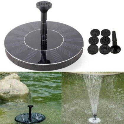 7V 1.4W Solar Floating Mini Fountain with Brushless Water Pump for garden Landscape Decoration