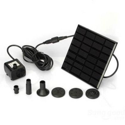 7V 1.12W Compact Solar Pond Fountain Water Pump for Garden Decoration