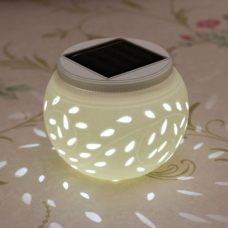 Ceramic Color Changing Solar Table Lamp for Garden or Indoor