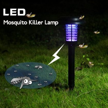 Outdoor Solar LED Mosquito Killer Lamp for Garden