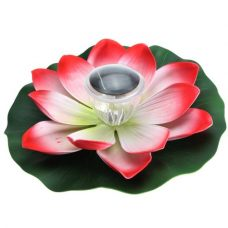 Solar garden light Multicolor Floating LED Light made as a Vivid Lotus shaped decoration Pond Nightlight
