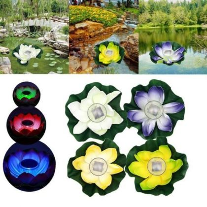 Color-Changing floating Solar LED Lotus Flower Light pool decoration