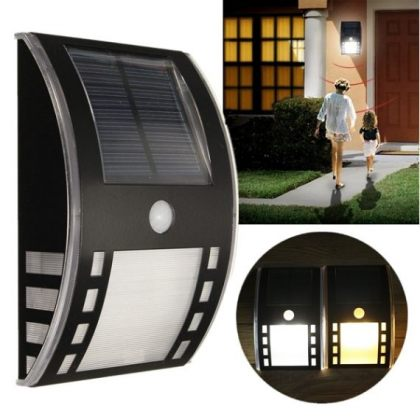 LED Solar Pathway emergency Light with PIR Motion Sensor Wall Mount