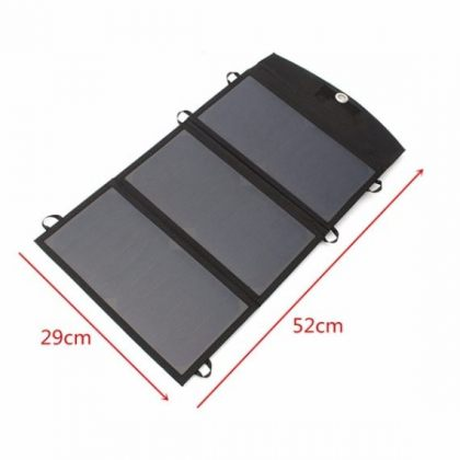Portable 20W Foldable Solar Battery Charger panel with Dual USB Port