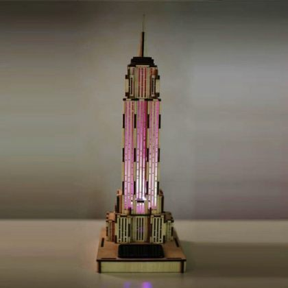 Solar 3D Wooden Puzzle DIY Educational Toy - Empire State Building