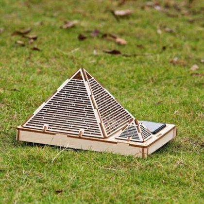 Solar 3D Wooden Puzzle DIY Educational Toy - Pyramid of Khufu