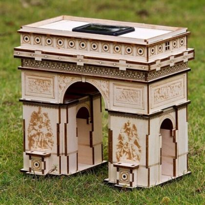 Solar 3D Wooden DIY Puzzle Educational Toy - Triumphal Arch assembly model