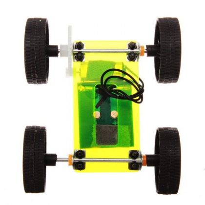 Mini Solar Car Educational Toy model for self-assembly