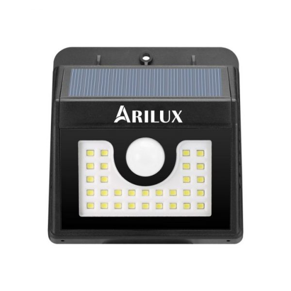 Bright Solar 30 LED security wall light with PIR Motion Sensor ARILUX®
