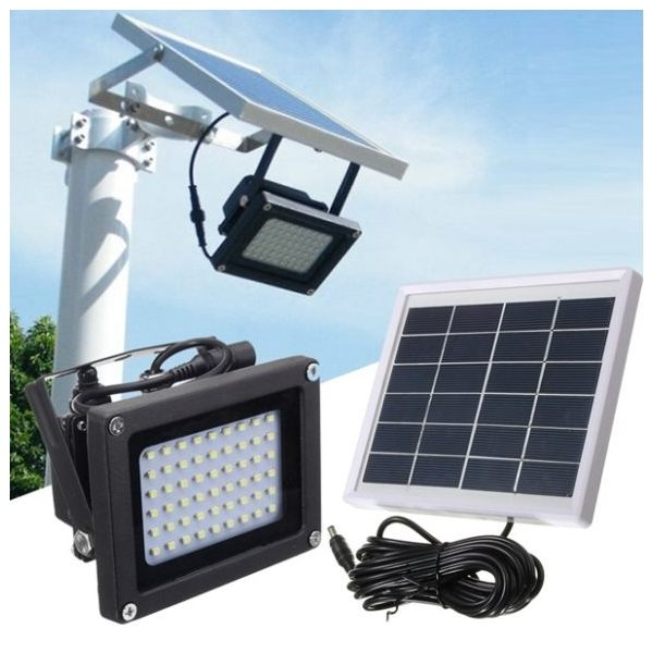Outdoor 54 Led Solar Flood Light With Automatic Light Sensor