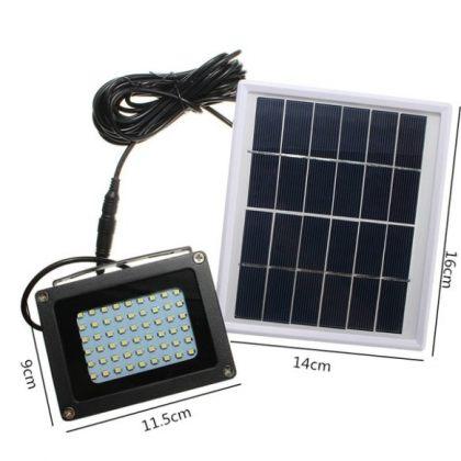 Outdoor 54 LED Solar Flood light with automatic light sensor emergency lamp