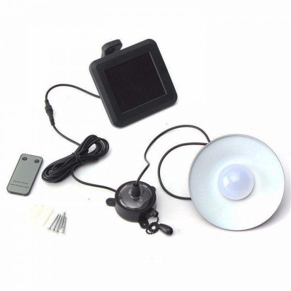 Ceiling LED Solar Shed Light with manual and remote control