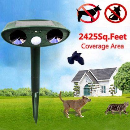 Ultrasonic dual speaker Solar animal repeller with Motion Sensor