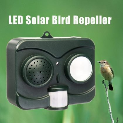 Acousto-Optic LED Ultrasonic Solar birds repeller with wall mount