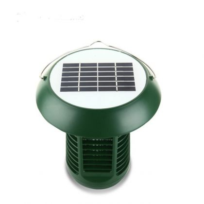 Solar bug zapper 2 in 1 outdoor LED Mosquito Killer Lamp Home