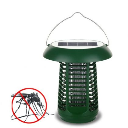 Solar bug zapper 2 in 1 outdoor LED Mosquito Killer Lamp