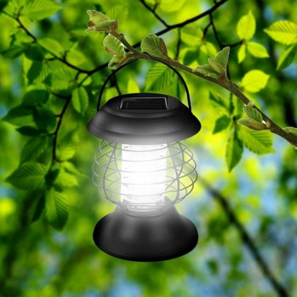 Outdoor UV Solar mosquito zapper Insect killer LED lamp