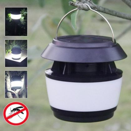 Universal Sonic Solar mosquito zapper insect repeller LED light