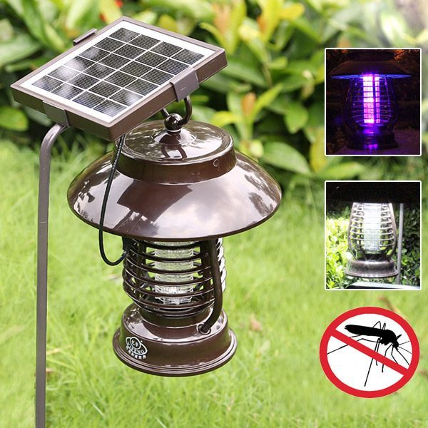 Garden Solar bug zapper & mosquito killer universal outdoor LED Lamp