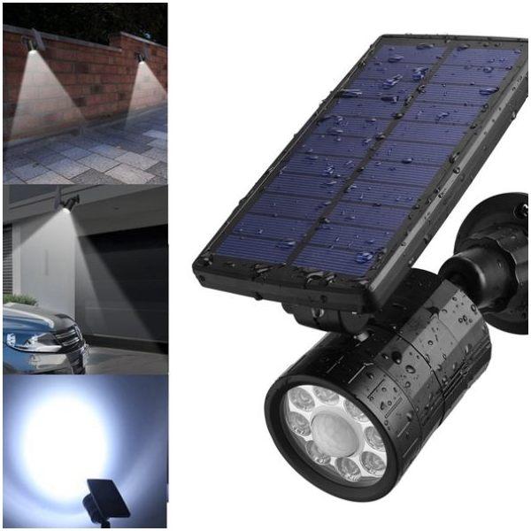 Outdoor 8 LED Solar Spot Light with PIR Motion Sensor ARILUX®