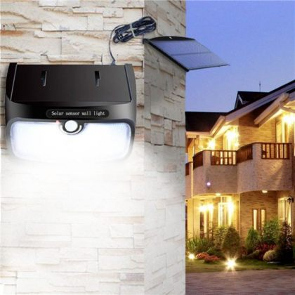 Outdoor Bright 5W 48 LED wall Solar Motion Sensor Light with detachable Solar Panel