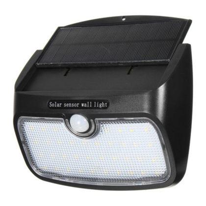 Outdoor Bright 5W 48 LED wall Solar Motion Sensor Light with detachable Solar Panel