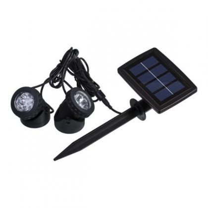Submersible Underwater LED Solar Pool Light with Dual spotlight heads