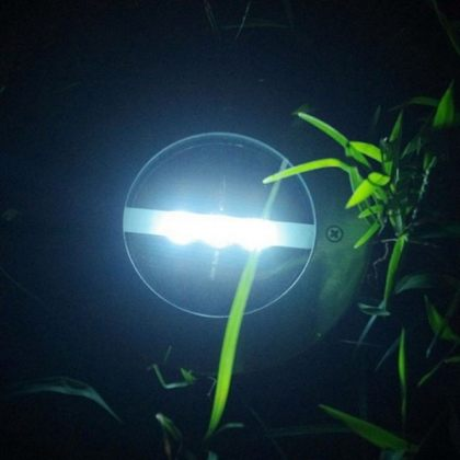 Set of Outdoor 3 LED Solar Path Lights for deck, garden lawn, landscape