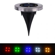 Set of Stainless Steel 4 LED Ground Buried Solar Path Light for deck, garden lawn